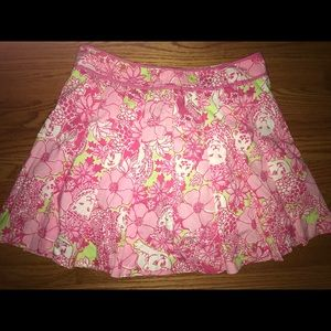 Lilli Pulitzer Floral Pleated Skirt size 8